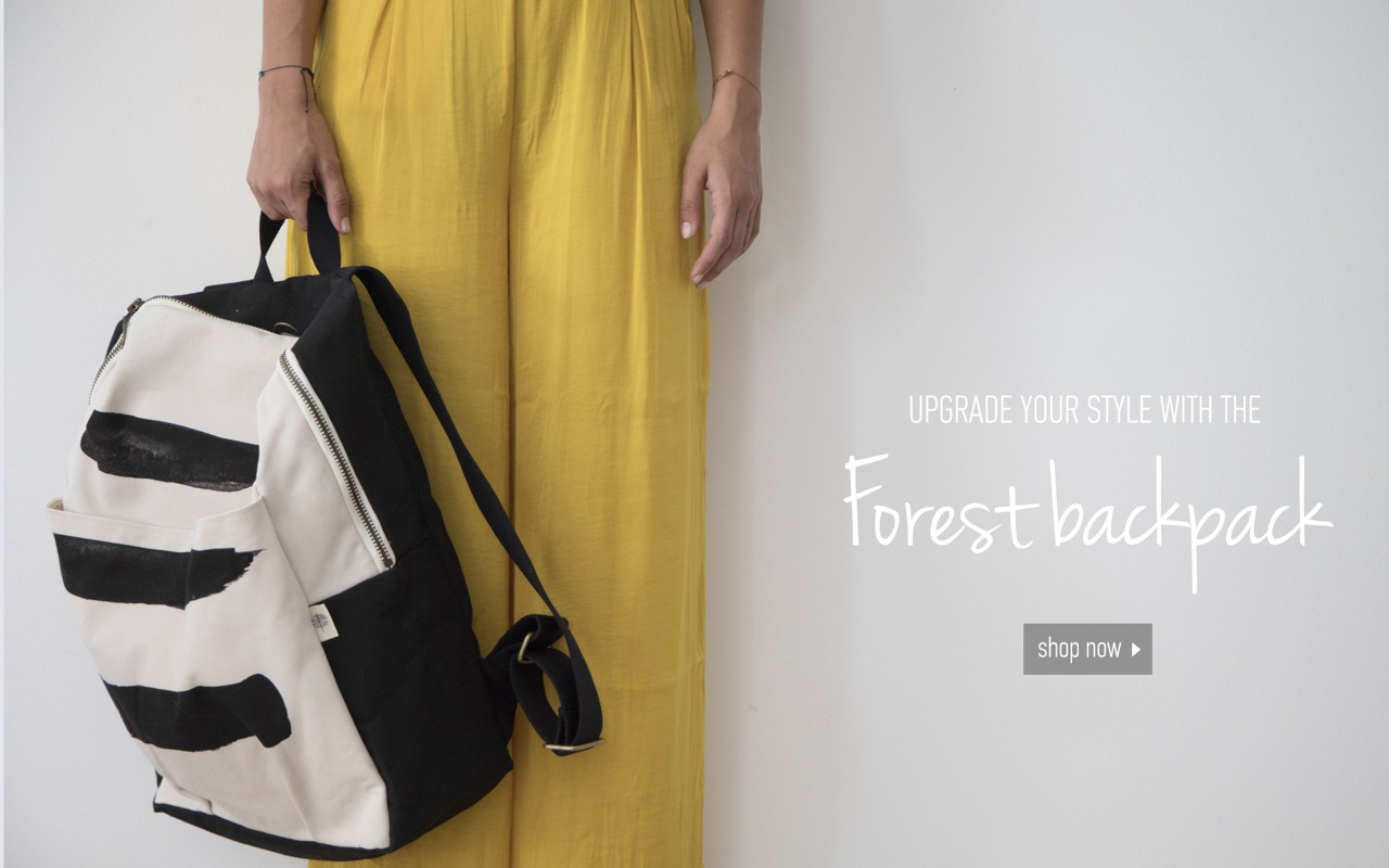 UPGRADE YOUR STYLE WITH THE... Forest backpack