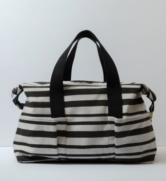 stripe baby bag